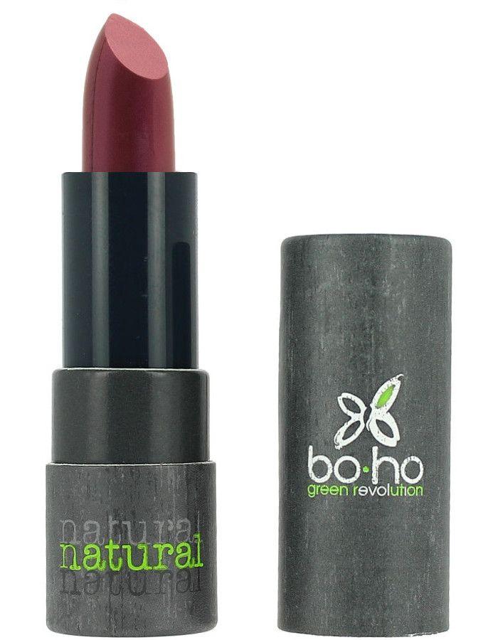Boho Cosmetics Natuurlijke Lipstick 406 Cassis Transparant Glans