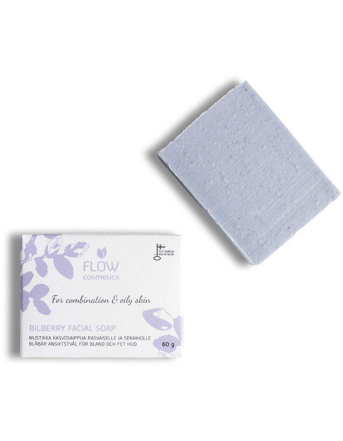 Flow Cosmetics Organic Bilberry Facial Soap Combination/Oily Skin 100gr