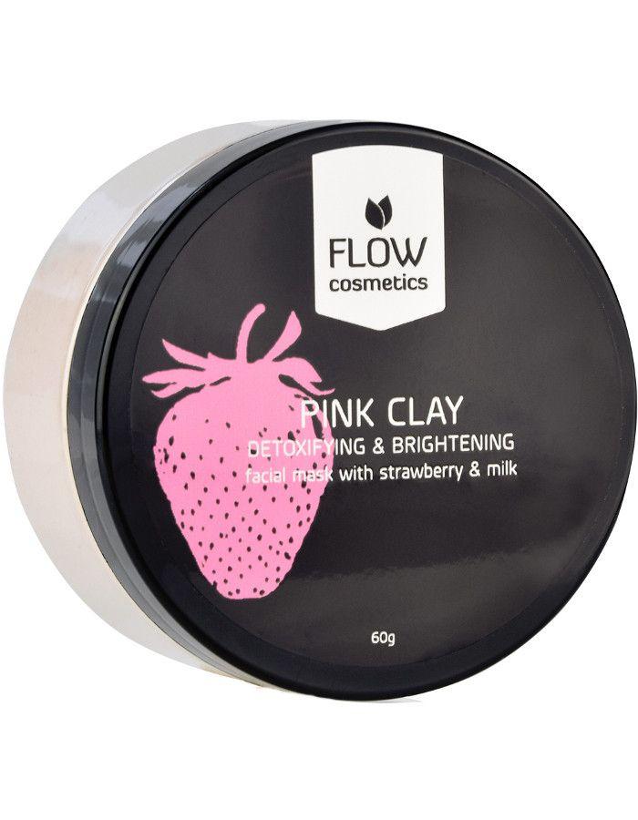 Flow Cosmetics Organic Gezichtsmasker Poeder Aardbeien Melk 60gr