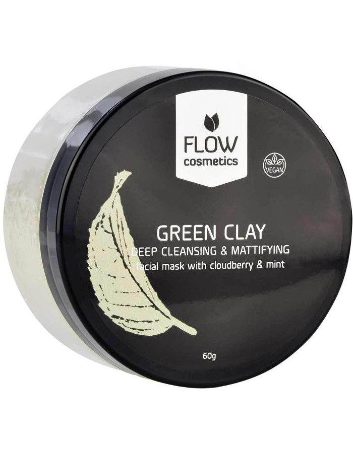 Flow Cosmetics Organic Gezichtsmasker Poeder Cloudberry Munt 60gr