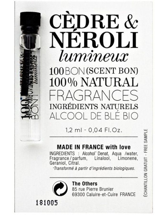 100Bon Cedre & Neroli Lumineux Eau De Toilette Sample