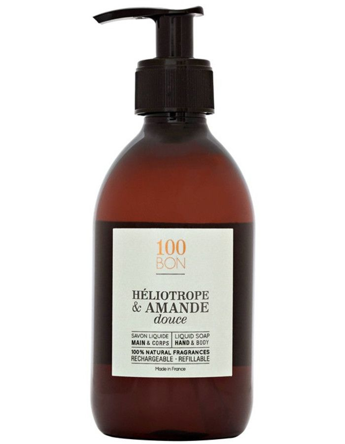 100Bon Heliotrope & Amande Douce Liquid Soap 300ml