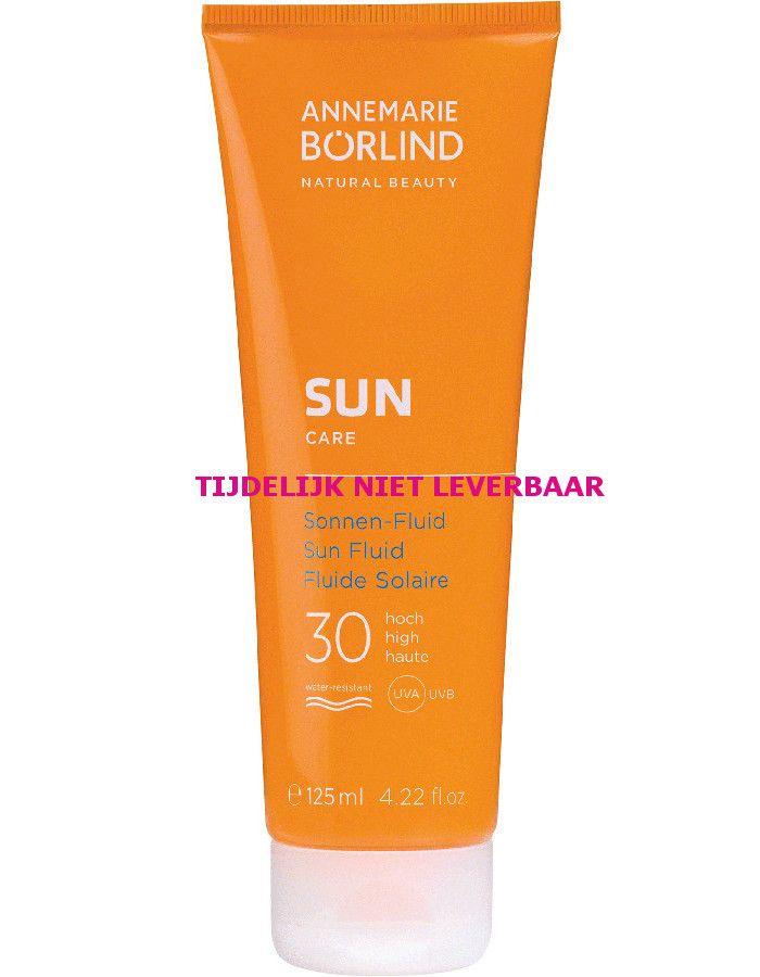 Annemarie Borlind Vegan Zonnebrand Fluid Spf30 125ml