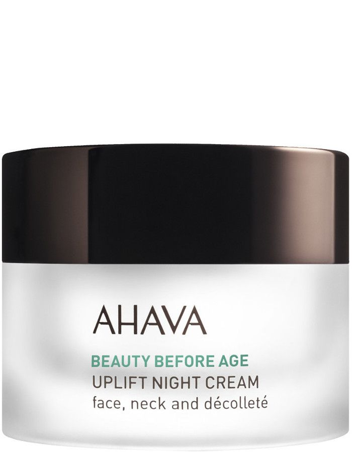 Ahava Beauty Before Age Uplift Night Cream Face Neck Decollete 50ml