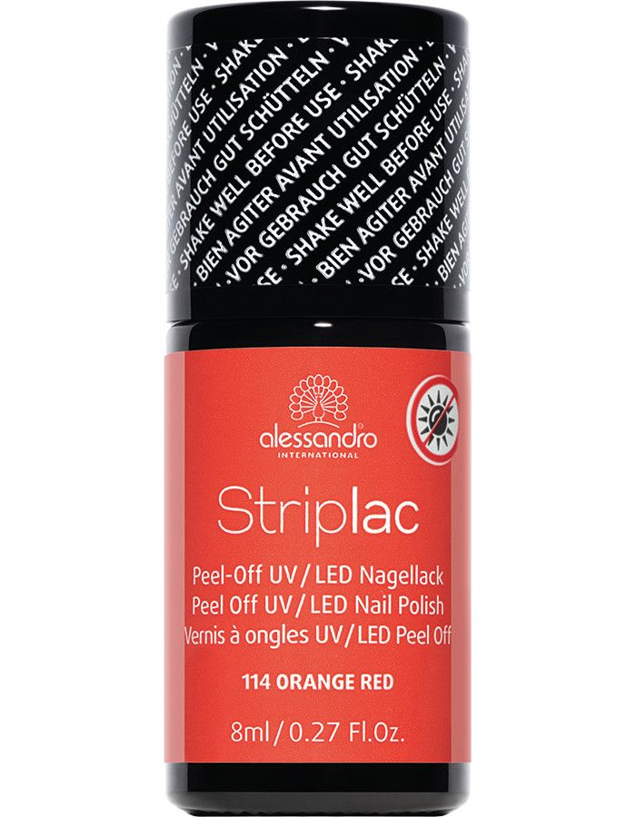 Alessandro Striplac 114 Orange Red 8ml