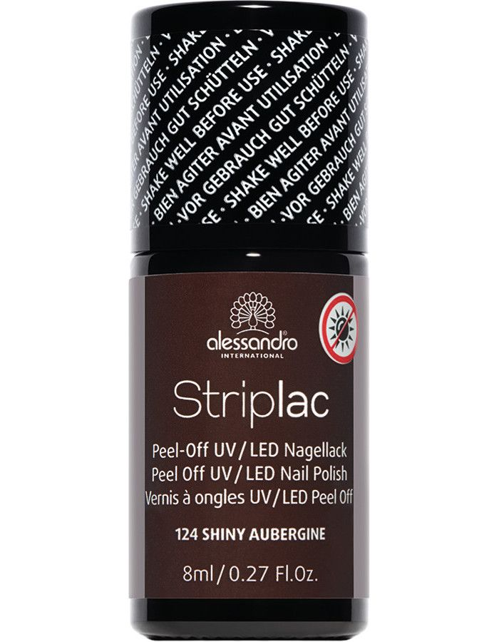 Alessandro Striplac 124 Shine Aubergine 8ml