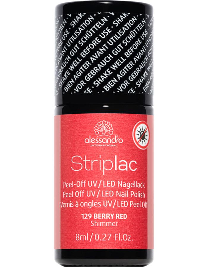 Alessandro Striplac 129 Berry Red 8ml