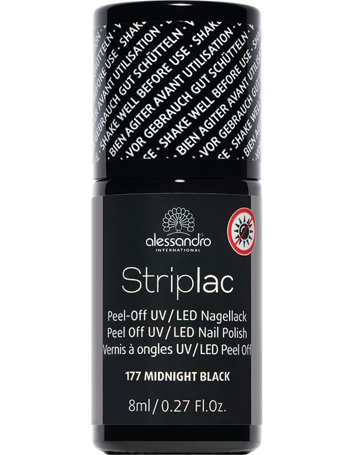 Alessandro Striplac 177 Midnight Black 8ml