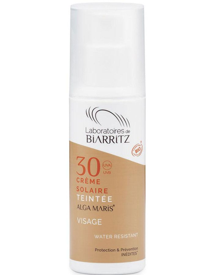 Algamaris Biologische Getinte Zonnebrandcrème Spf30 Light 50ml