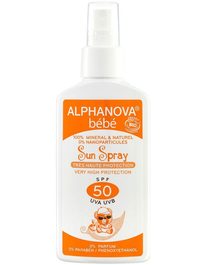 Alphanova Sun Biologische Zonnebrand Spray Baby Spf50 125ml