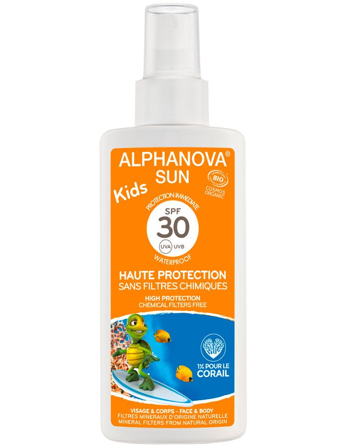 Alphanova Sun Biologische Zonnebrand Spray Kids Spf30 125ml