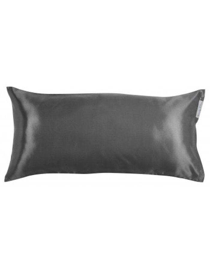 Beauty Pillow Satijnen Kussensloop Antracite 80x40cm