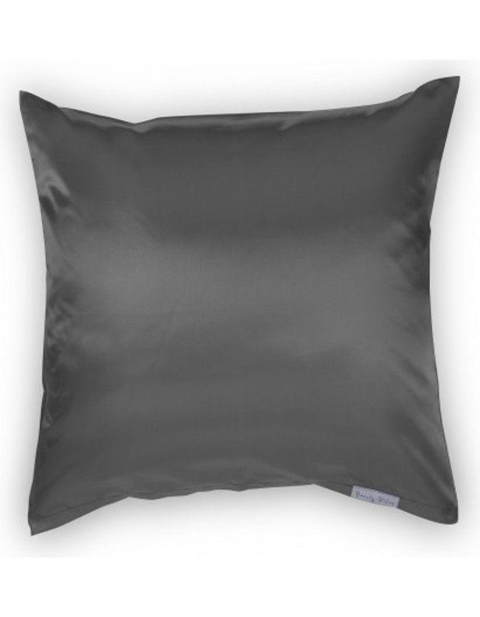 Beauty Pillow Satijnen Kussensloop Antracite 80x80cm