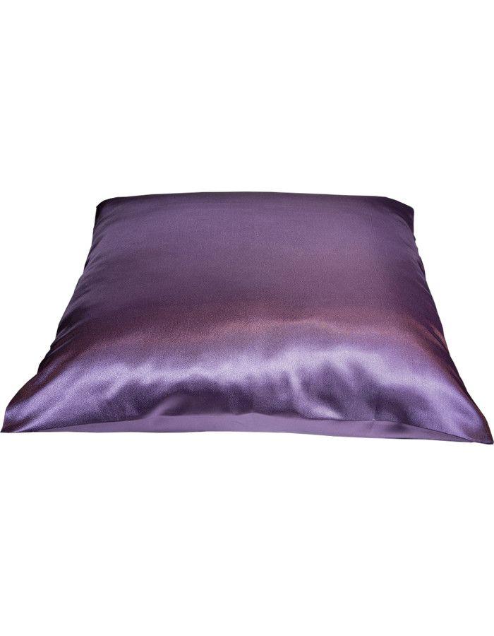 Beauty Pillow Satijnen Kussensloop Aubergine 80x40cm