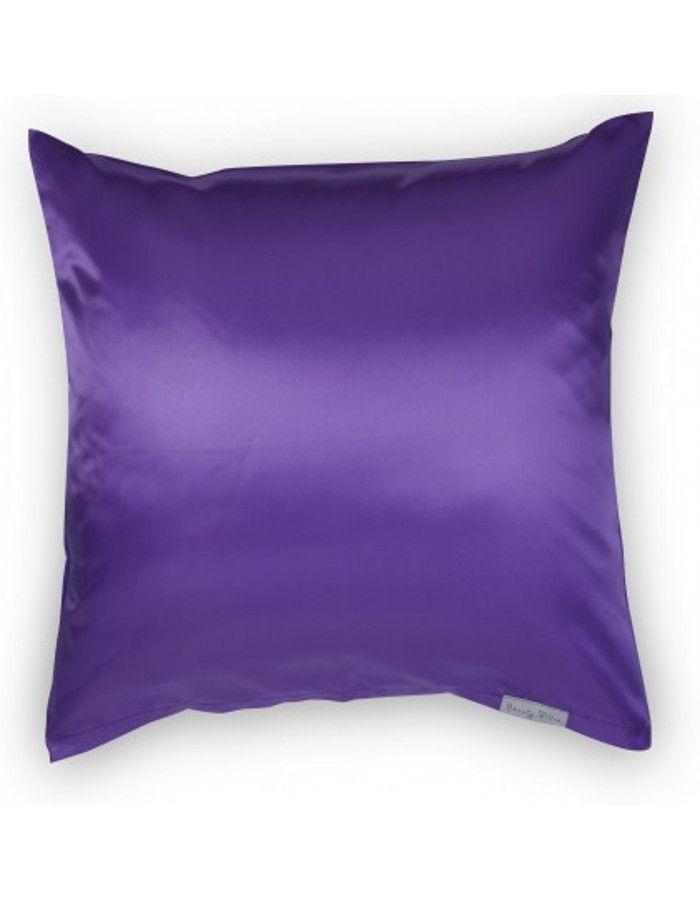 Beauty Pillow Satijnen Kussensloop Aubergine 80x80cm