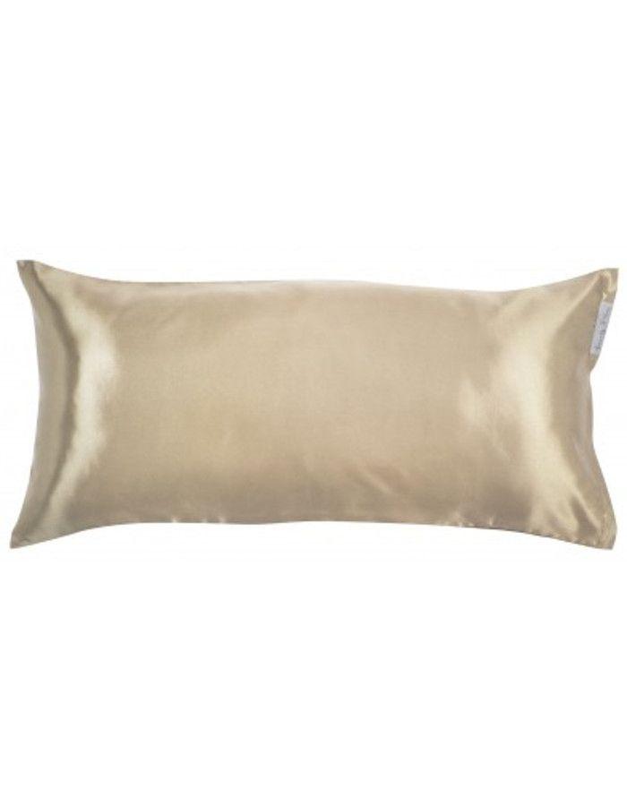 Beauty Pillow Satijnen Kussensloop Champagne 80x40cm
