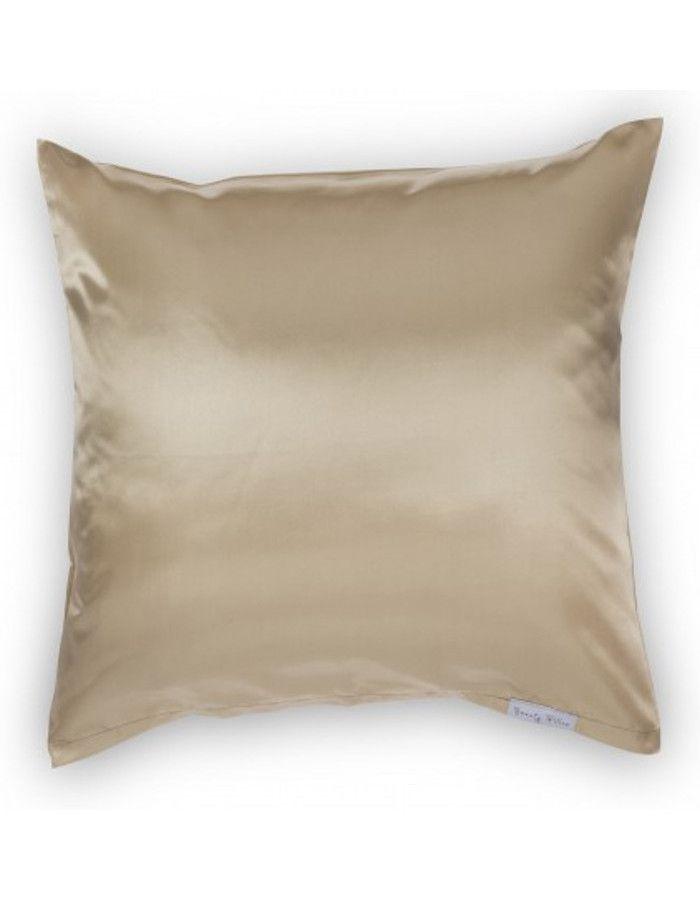 Beauty Pillow Satijnen Kussensloop Champagne 80x80cm