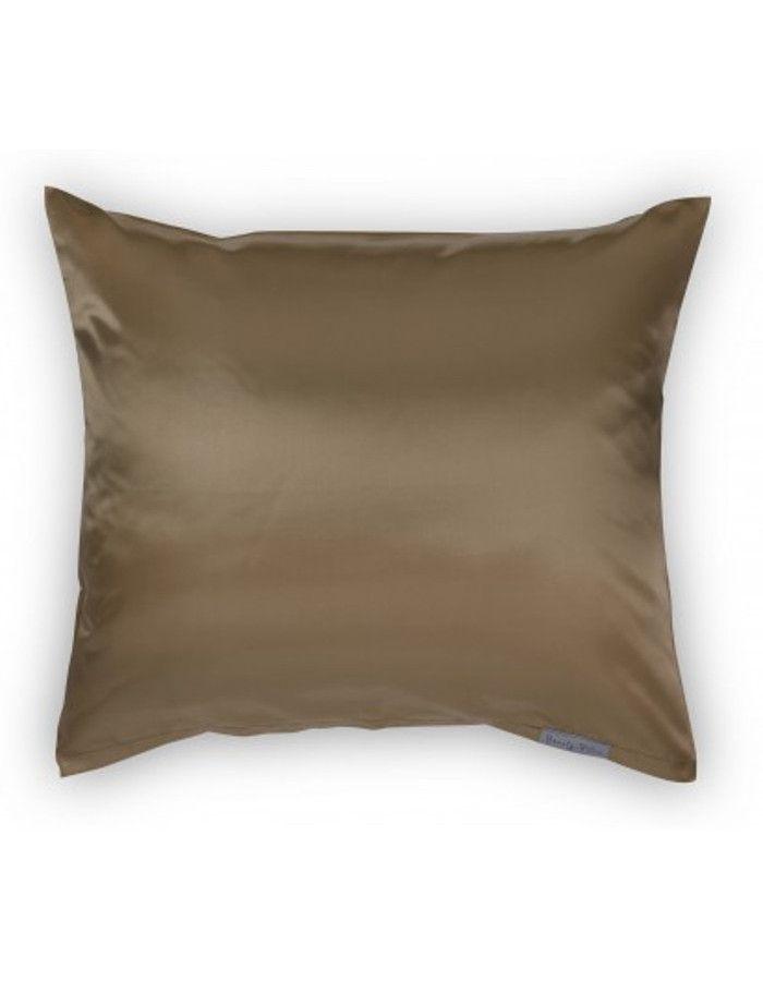 Beauty Pillow Satijnen Kussensloop Taupe 60x70cm