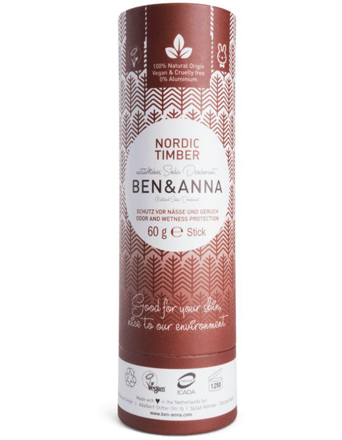 Ben & Anna Natuurlijke Deodorant Stick Nordic Timber Recyclebare Verpakking