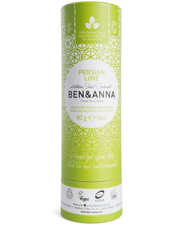 Ben & Anna Natuurlijke Deodorant Stick Persian Lime Recyclebare Verpakking