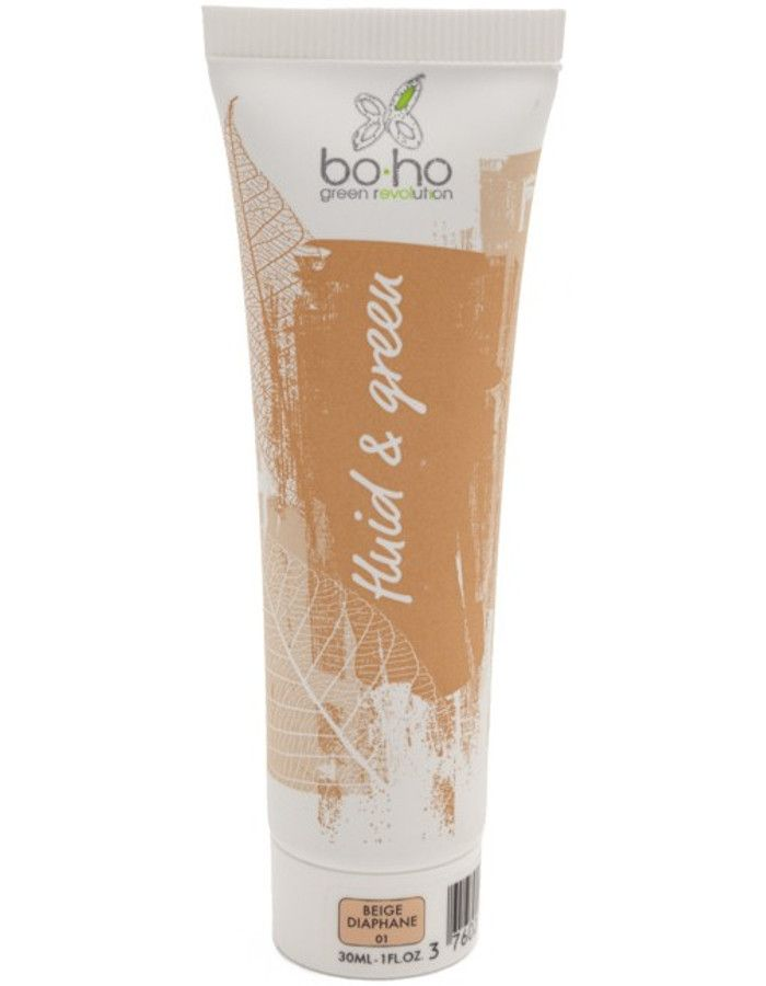 BoHo Cosmetics Bio Fluid En Green Vloeibare Foundation 01 Beige Diaphane 30ml