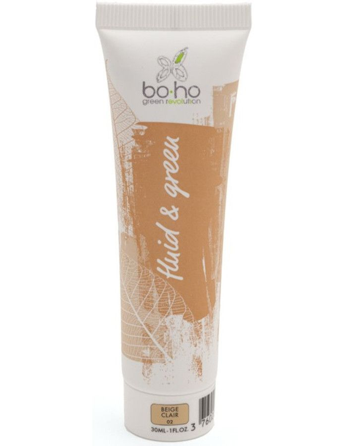 BoHo Cosmetics Bio Fluid En Green Vloeibare Foundation 02 Beige Clair 30ml