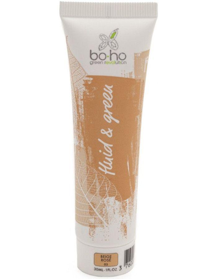 BoHo Cosmetics Bio Fluid En Green Vloeibare Foundation 03 Beige Rose 30ml