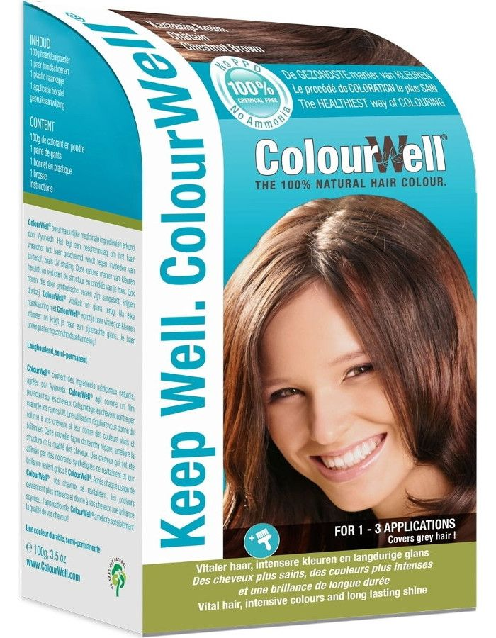Colourwell 100% Natuurlijke Haarkleuring Kastanje Bruin