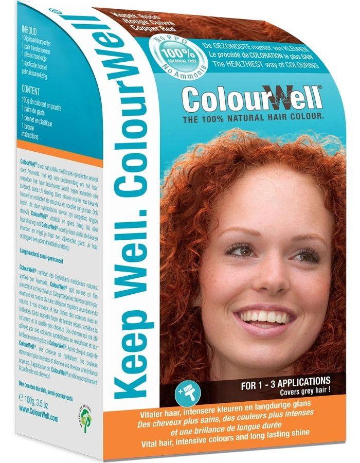 Colourwell 100% Natuurlijke Haarkleuring Koper Rood