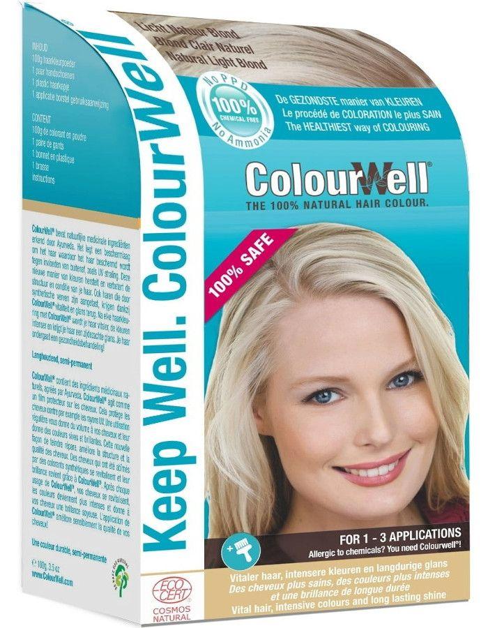 Colourwell 100% Natuurlijke Haarkleuring Licht Natuurlijk Blond