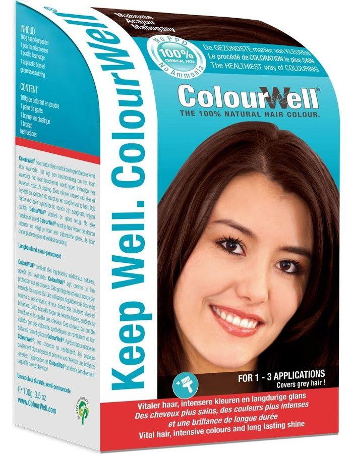 Colourwell 100% Natuurlijke Haarkleuring Mahonie