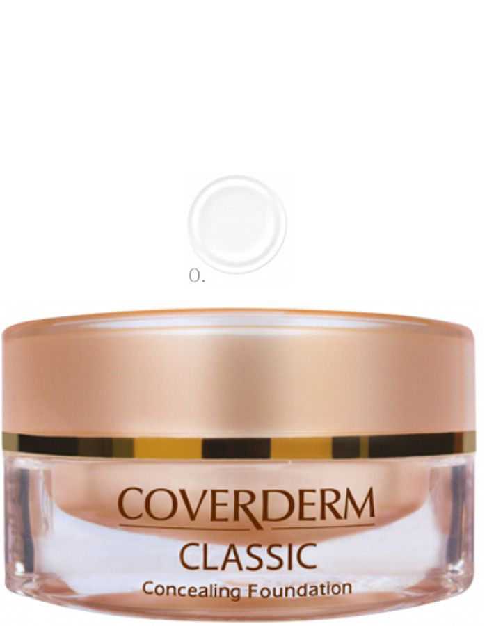 Coverderm Classic Concealing Foundation Waterproof Make-up Spf15 Nr 00 15ml