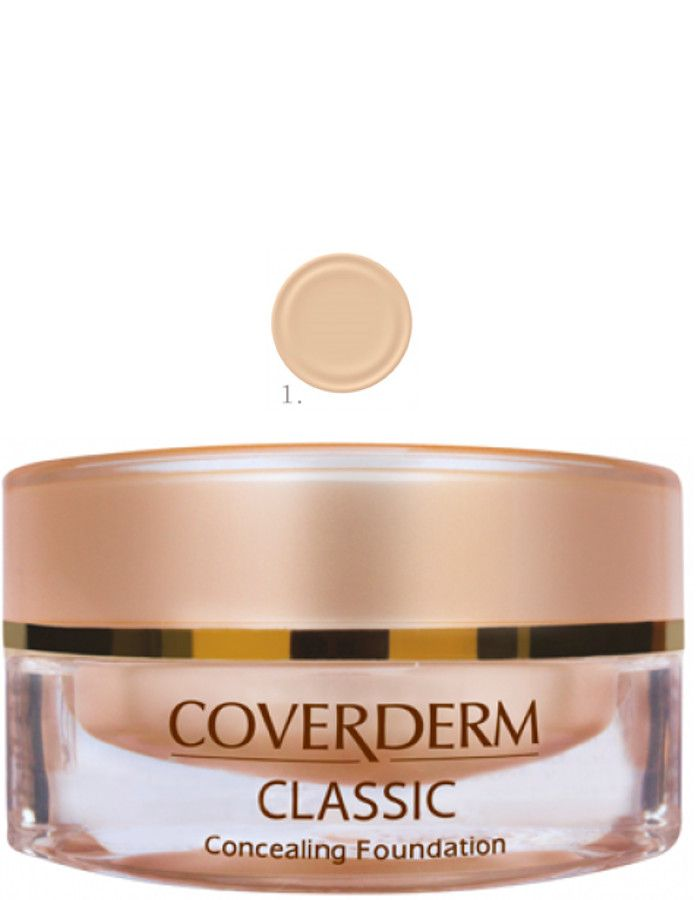Coverderm Classic Concealing Foundation Waterproof Make-up Spf15 Nr 01