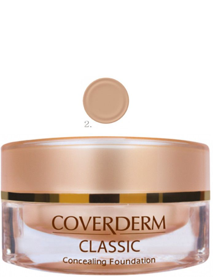 Coverderm Classic Concealing Foundation Waterproof Make-up Spf15 Nr 02 15ml