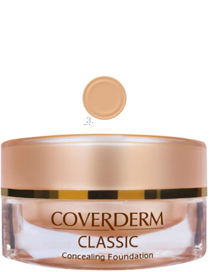 Coverderm Classic Concealing Foundation Waterproof Make-up Spf15 Nr 03 15ml