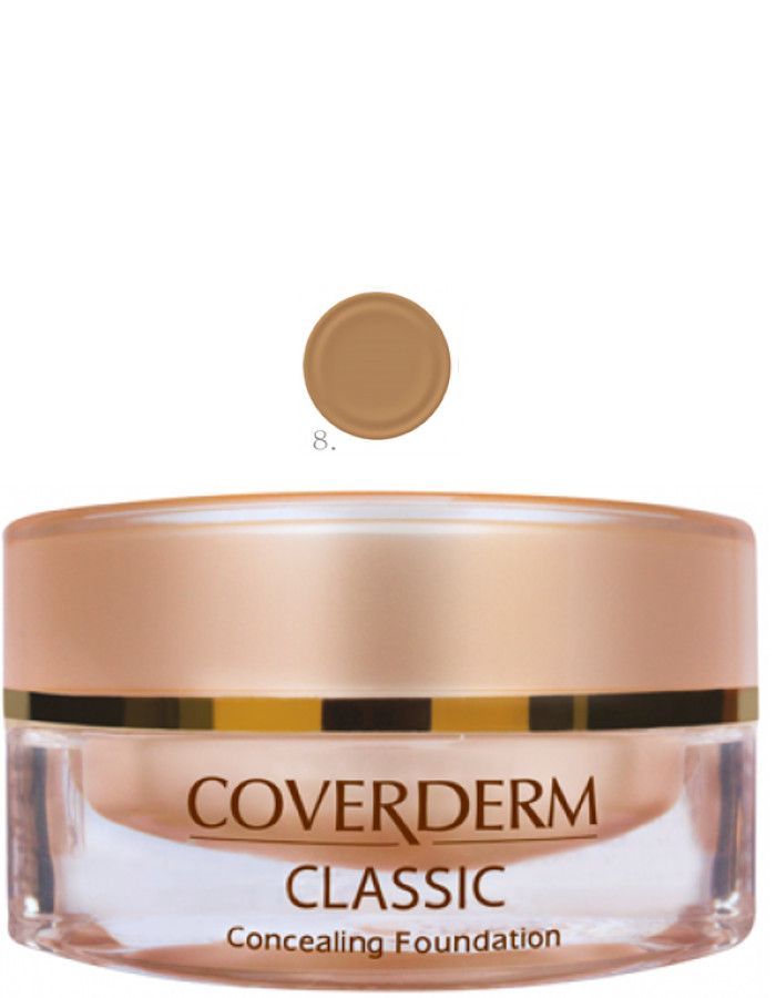 Coverderm Classic Concealing Foundation Waterproof Make-up Spf15 Nr 08 15ml