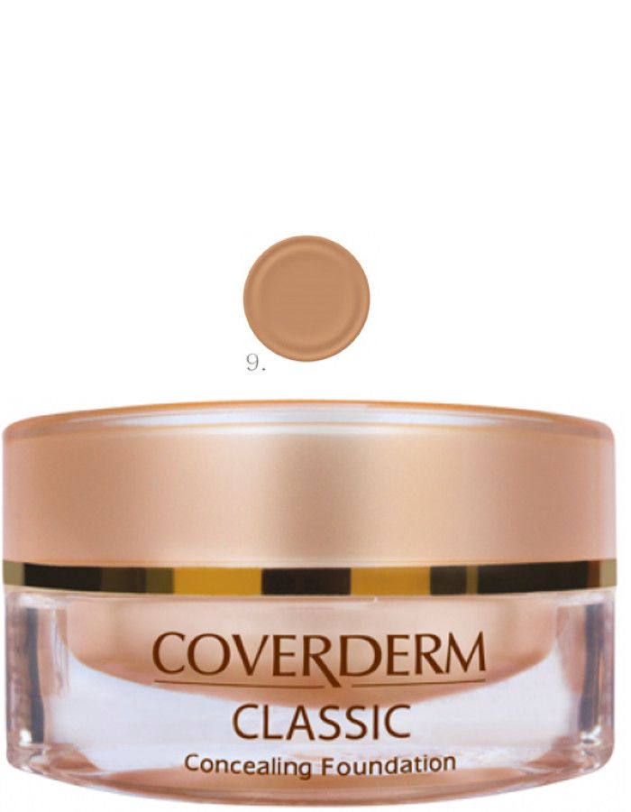 Coverderm Classic Concealing Foundation Waterproof Make-up Spf15 Nr 09 15ml