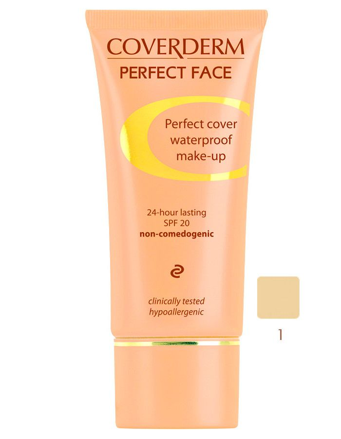 Coverderm Perfect Face Waterproof Make-up Spf20 Nr 01 30ml