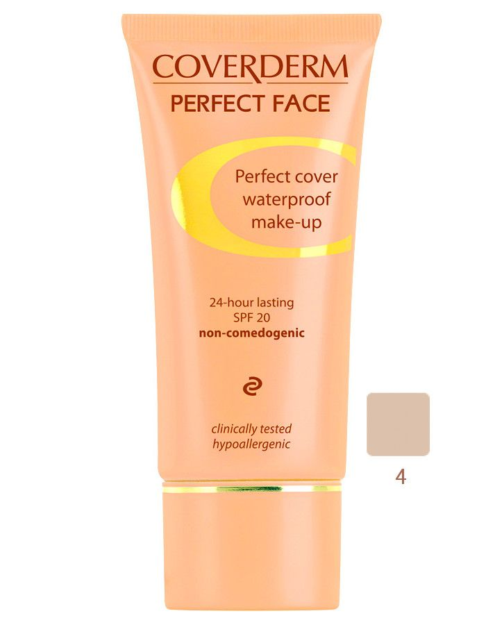 Coverderm Perfect Face Waterproof Make-up Spf20 Nr 04 30ml