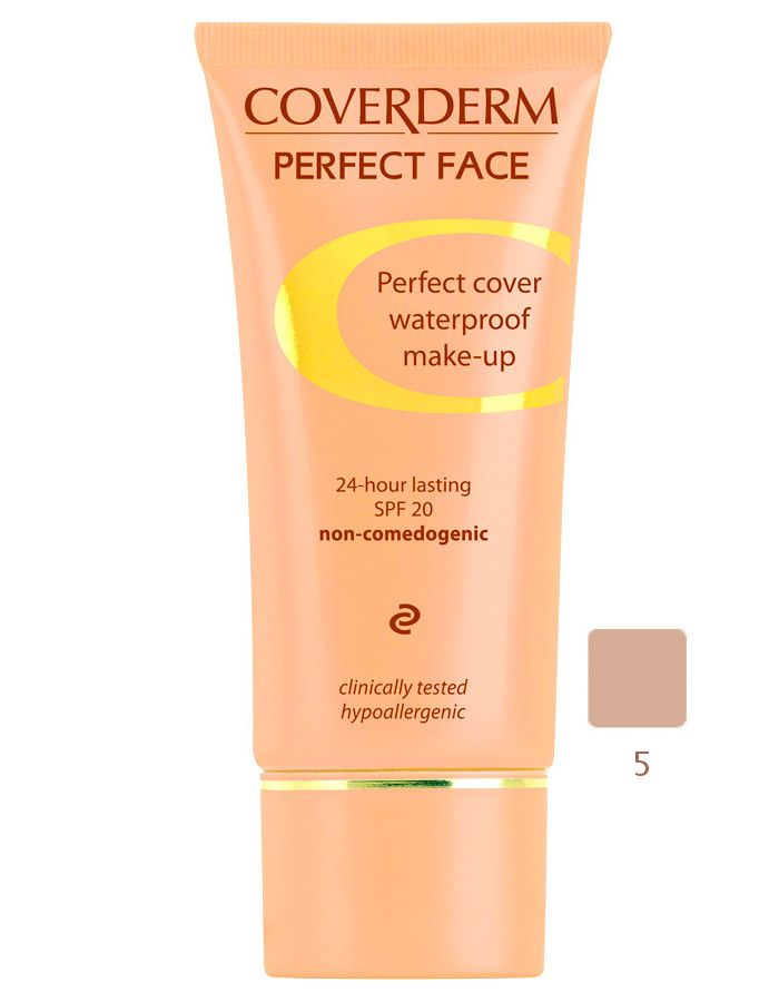 Coverderm Perfect Face Waterproof Make-up Spf20 Nr 05 30ml