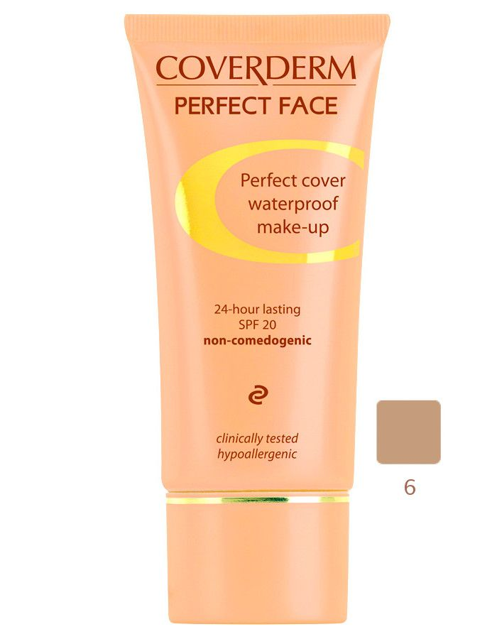 Coverderm Perfect Face Waterproof Make-up Spf20 Nr 06 30ml