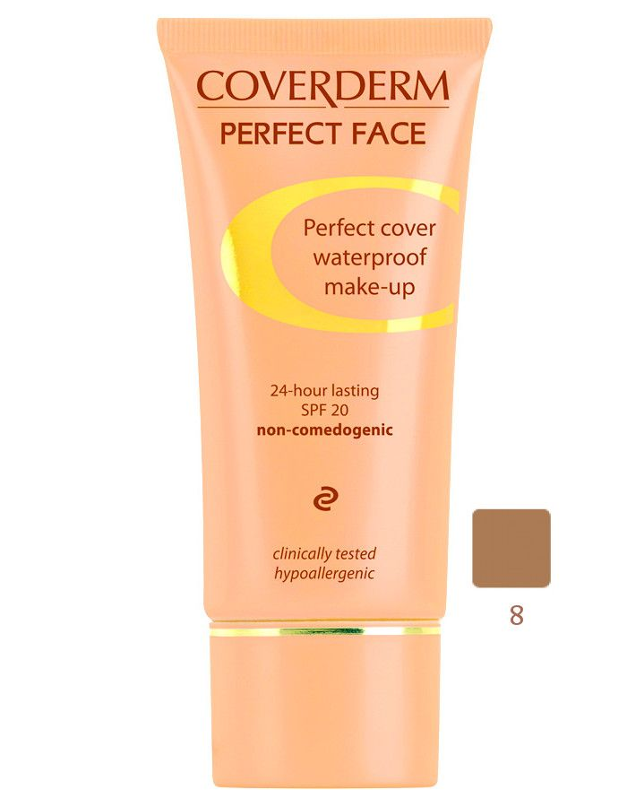 Coverderm Perfect Face Waterproof Make-up Spf20 Nr 08 30ml