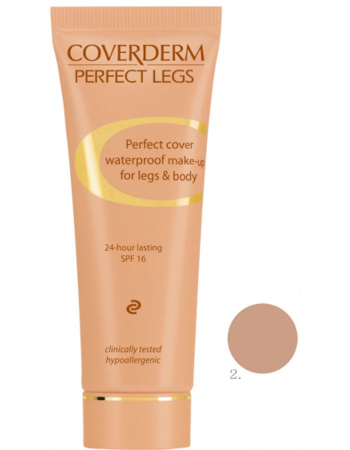 Coverderm Perfect Legs Waterproof Make-up Spf16 Nr 02 50ml