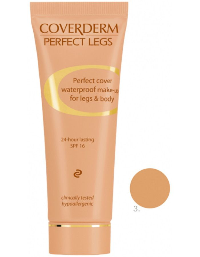 Coverderm Perfect Legs Waterproof Make-up Spf16 Nr 03 50ml