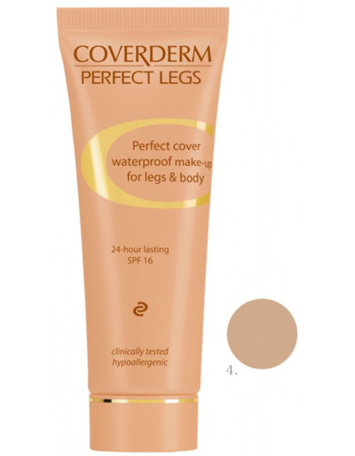 Coverderm Perfect Legs Waterproof Make-up Spf16 Nr 04 50ml
