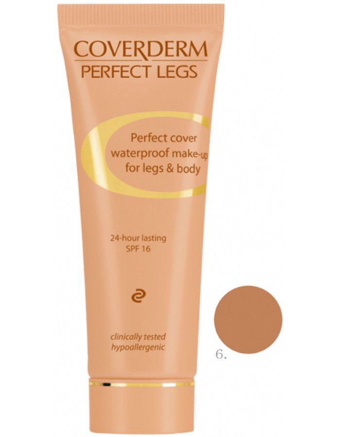 Coverderm Perfect Legs Waterproof Make-up Spf16 Nr 06 50ml
