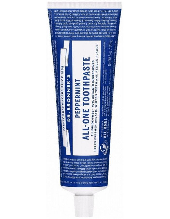 Dr Bronners All-In-One Toothpaste Peppermint 140gr