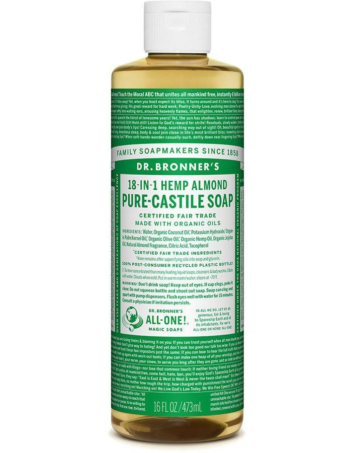 Dr Bronners All In One Liquid Soap Amandel 473ml