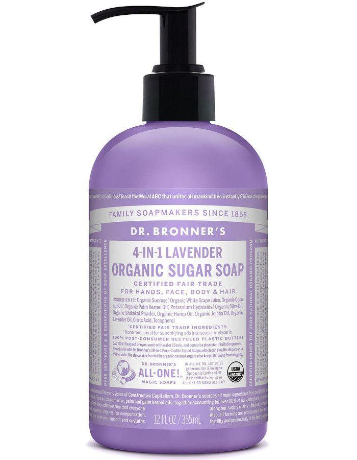 Dr Bronners 4 in 1 Organic Sugar Soap Lavendel 355ml