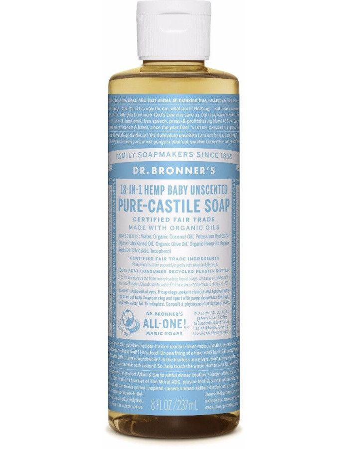 Dr Bronners All In One Liquid Soap Baby Mild Ongeparfumeerd 237ml